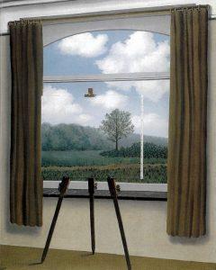 La condizione umana, primo quadro di René Magritte con questo titolo