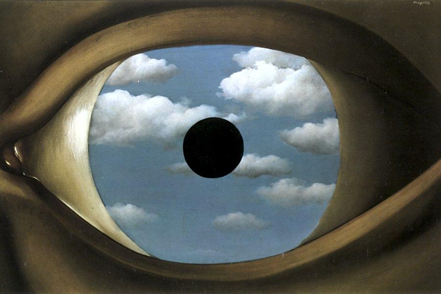 Il falso specchio di René Magritte