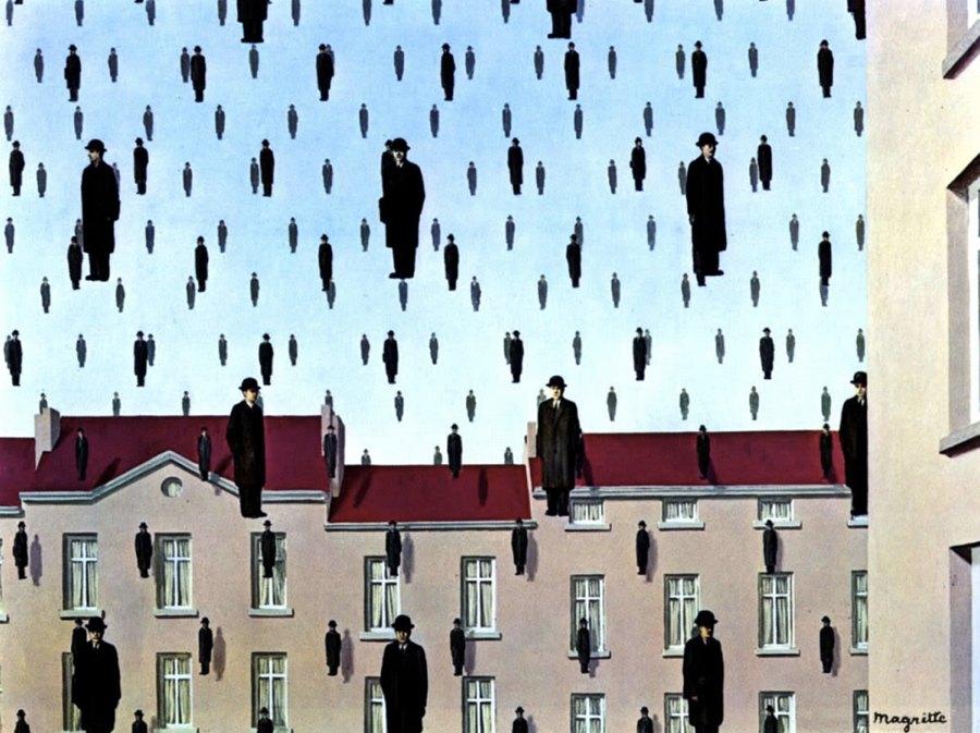 Golconda di René Magritte