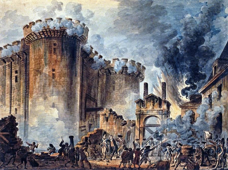 La presa della Bastiglia in un dipinto di Jean-Pierre Houël