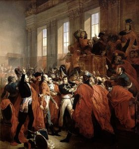 Il colpo di stato di Napoleone del brumaio 1799 in un dipinto di François Bouchot