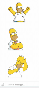 La serie di sticker di Homer Simpson