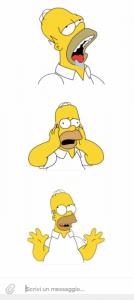 La serie di sticker di Homer Simpson