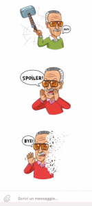 Stan Lee in versione Telegram