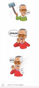 Stan Lee in versione Telegram