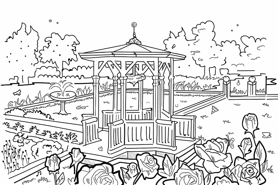 Un giardino da colorare