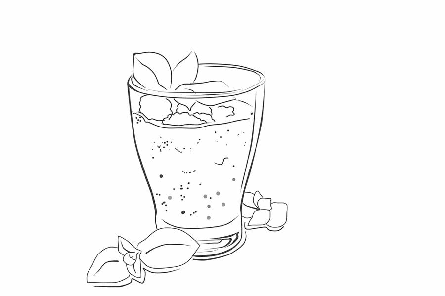 Un bicchiere da colorare