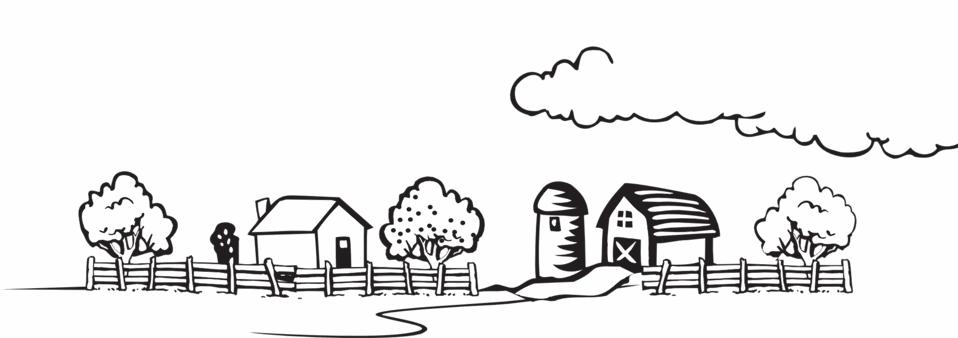 Una fattoria da colorare