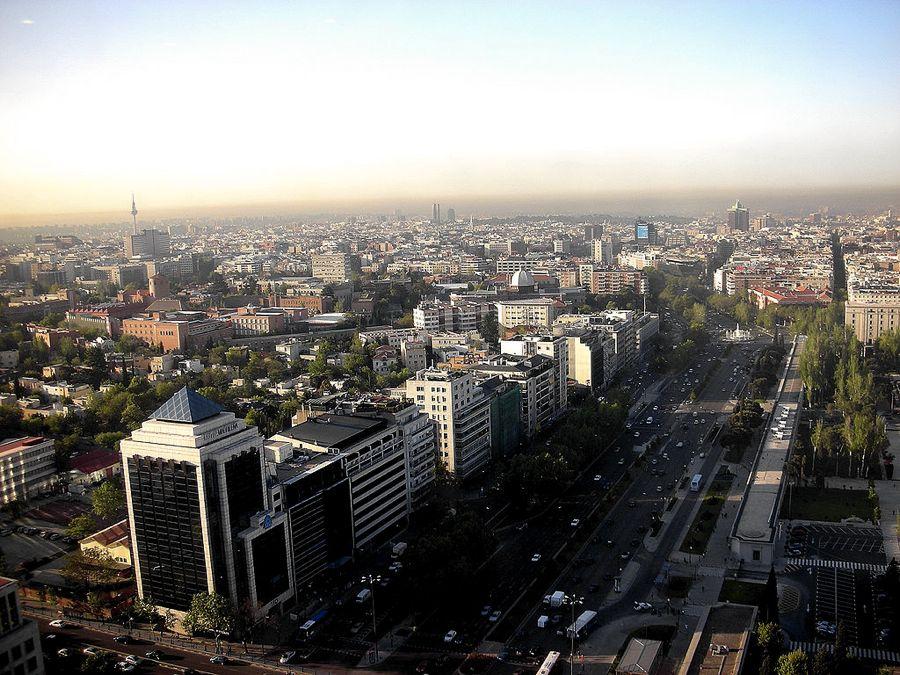 Il quartiere di Salamanca a Madrid visto dall'alto (foto di Enrique Dans via Flickr)