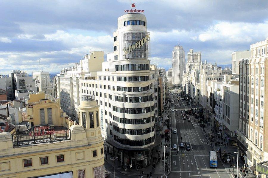 I palazzi della Gran Via a Madrid