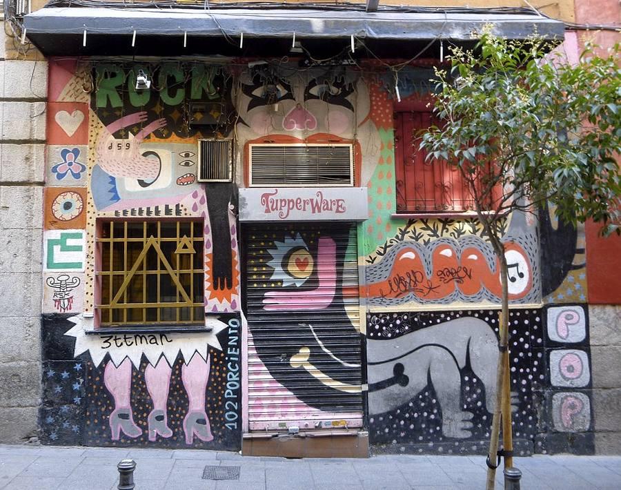 Un negozio nel quartiere di Malasaña a Madrid