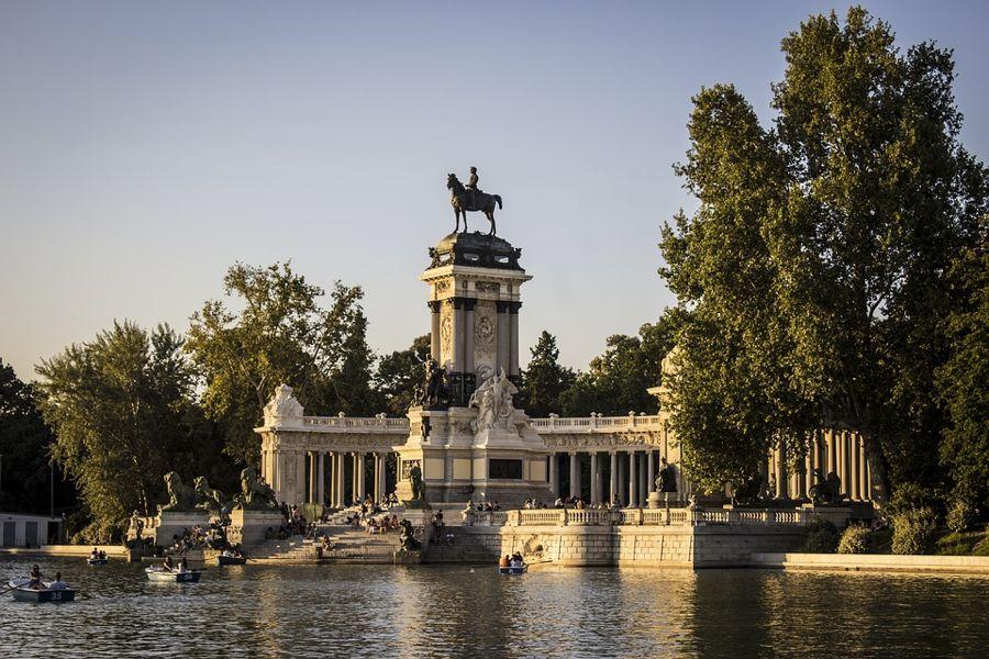 Il Parco del Retiro a Madrid