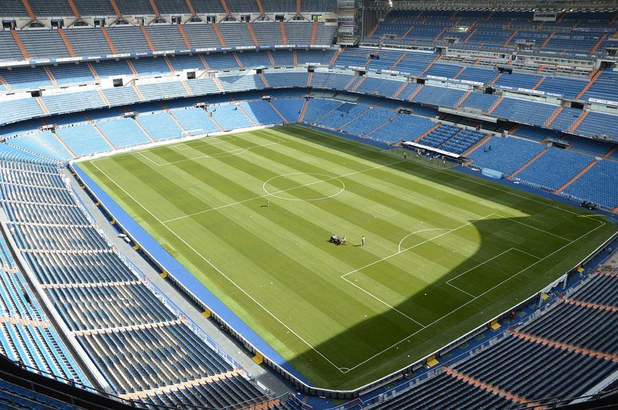 L'interno dello stadio Santiago Bernabéu di Madrid