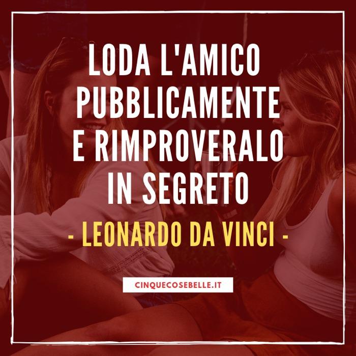Una frase sull'amicizia di Leonardo da Vinci