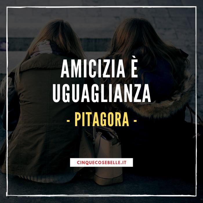 La citazione di Pitagora sull'amicizia