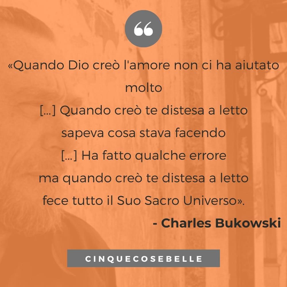 Un estratto della poesia di Bukowski