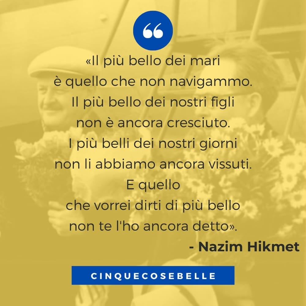 Un estratto della poesia di Hikmet