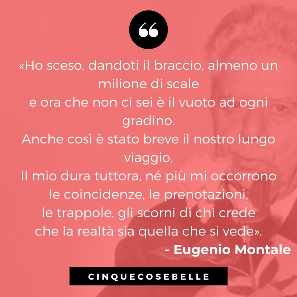 Un estratto della poesia di Eugenio Montale