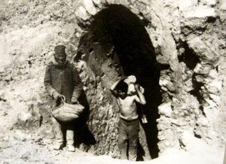 Una zolfara siciliana a fine Ottocento, simile alla miniera in cui lavorava Rosso Malpelo