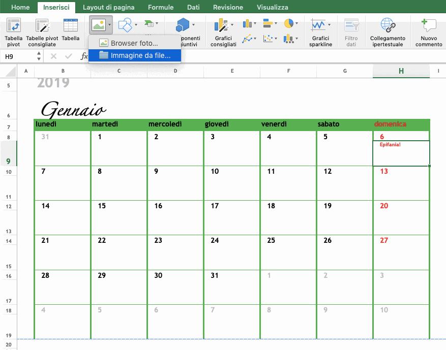 Inseriamo gli eventi nel calendario