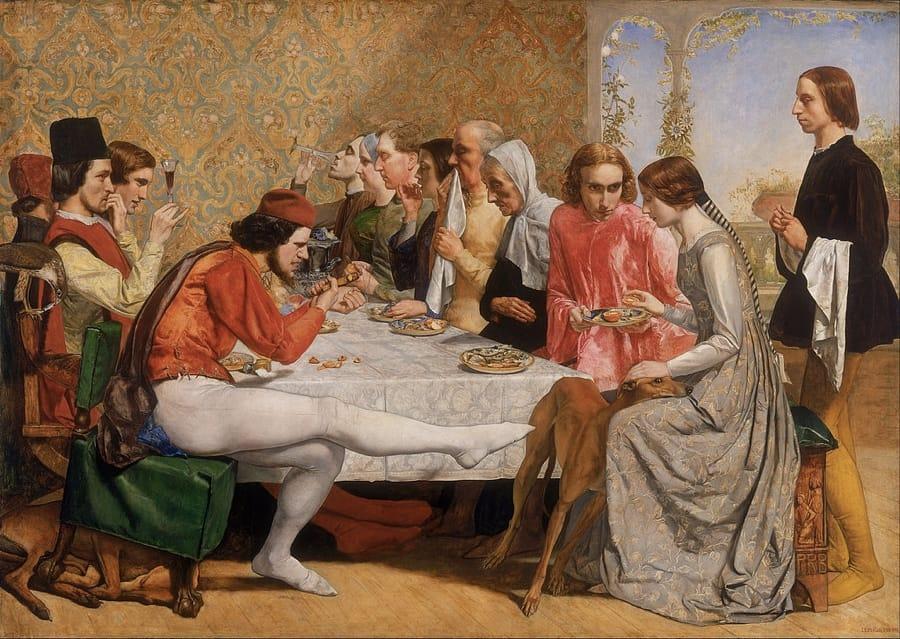 Lorenzo e Lisabetta in un quadro di John Everett Millais