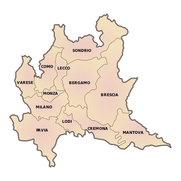 Cartina Dati Lombardia.Le Province Della Lombardia L Elenco E Tutti I Dati Cinque Cose