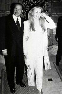 Veronica Lario con Silvio Berlusconi all'epoca del loro matrimonio