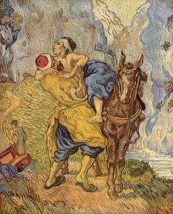 Il buon samaritano, dipinto da van Gogh nel 1890