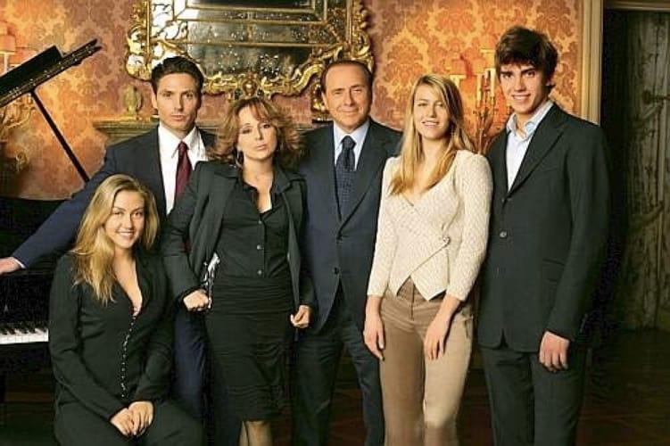 I figli di Berlusconi assieme a Silvio