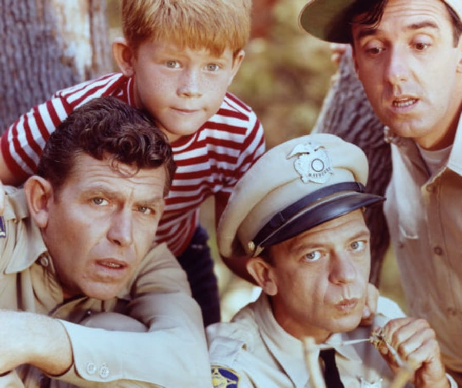 Il cast dell'Andy Griffith Show