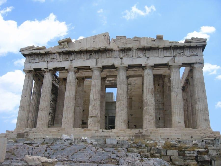 La facciata del Partenone