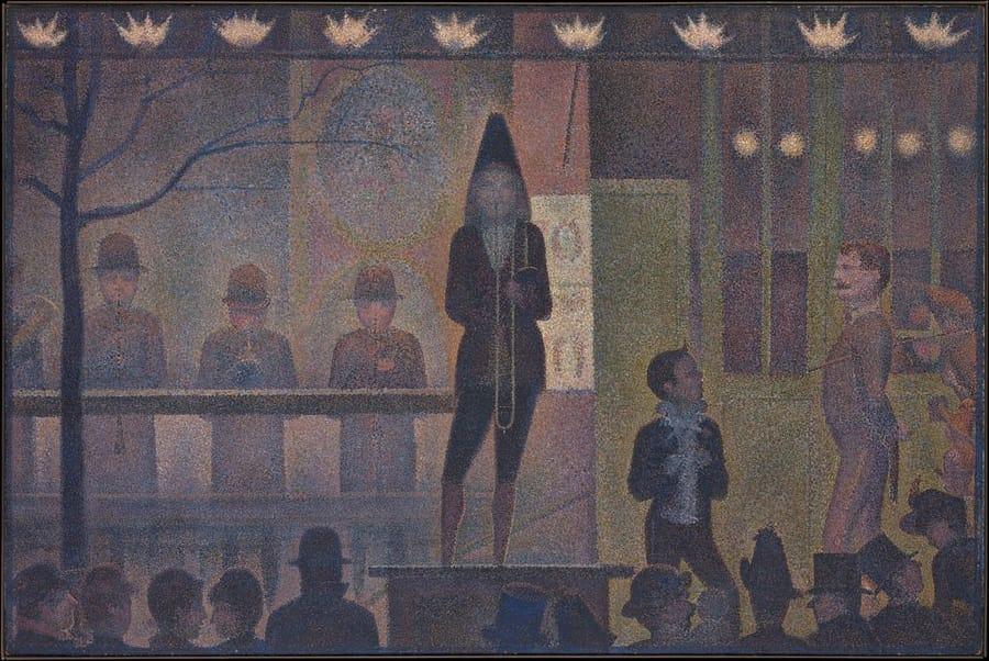 La parata del circo di Georges Seurat