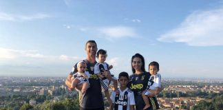 La fidanzata e i figli di Cristiano Ronaldo