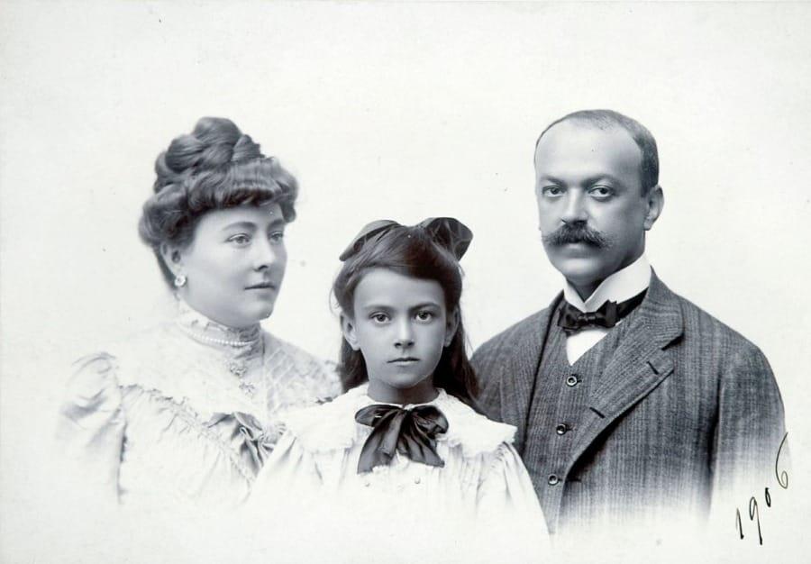Italo Svevo nel 1906 con la famiglia