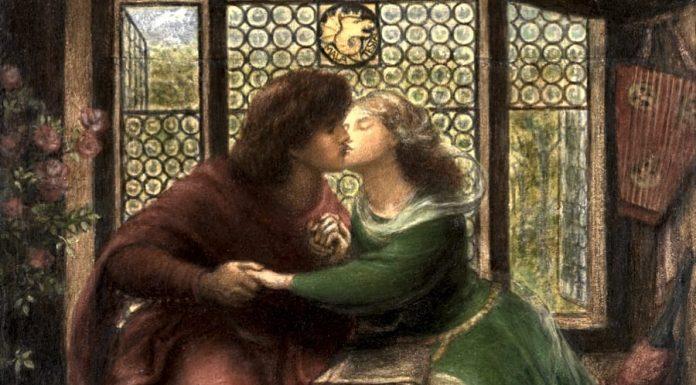 Paolo e Francesca, protagonisti del verso Amor, c'ha nullo amato amar perdona, in un dipinto di Dante Gabriel Rossetti
