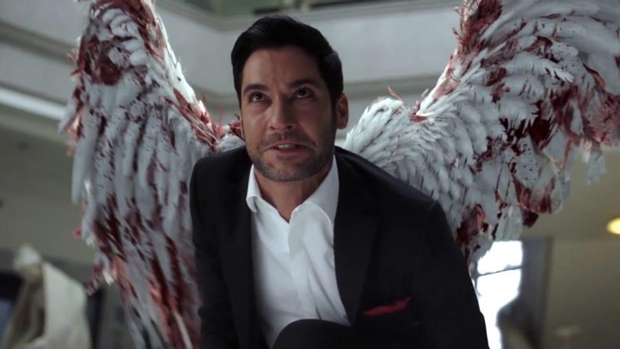 Lucifer con le ali spiegate