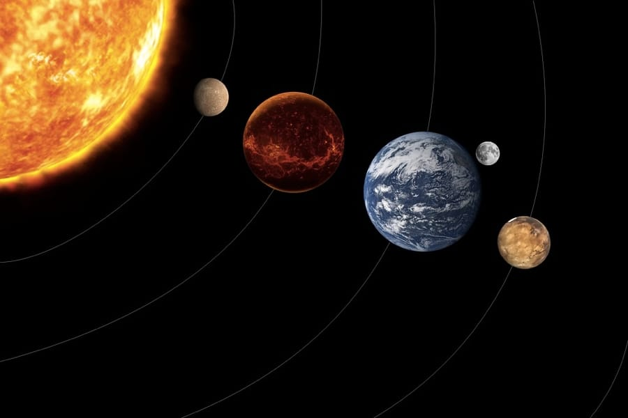 Alcuni pianeti del nostro sistema solare