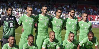 La Nazionale dell'Algeria (foto di Clément Bucco-Lechat via Wikimedia Commons)