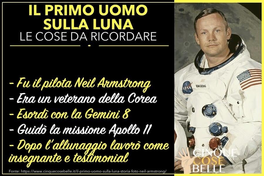 L'infografica riassuntiva su Neil Armstrong