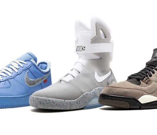 Alcune delle sneaker della Nike all'asta da Sotheby's