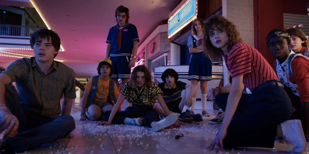 I protagonisti di Stranger Things dentro al centro commerciale Starcourt