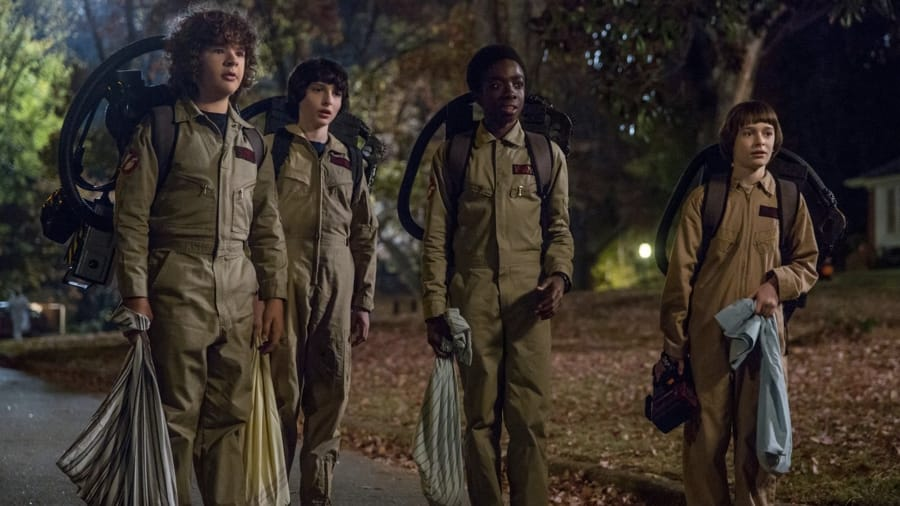 I ragazzi di Stranger Things vestiti da Ghostbusters per Halloween