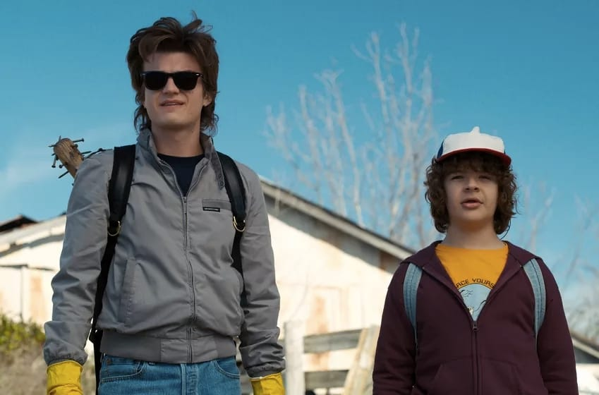 Steve e Dustin in Stranger Things