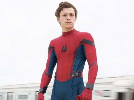 Tom Holland nei panni di Spider-Man