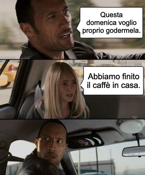Finire il caffè
