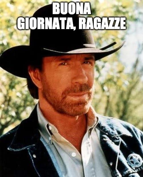 Chuck Norris vi augura buona giornata