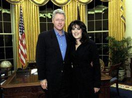 Bill Clinton e Monica Lewinsky prima dello scandalo che portò il presidente all'impeachment