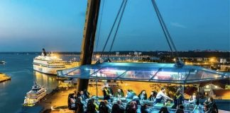La cena particolarissima di Dinner in the Sky