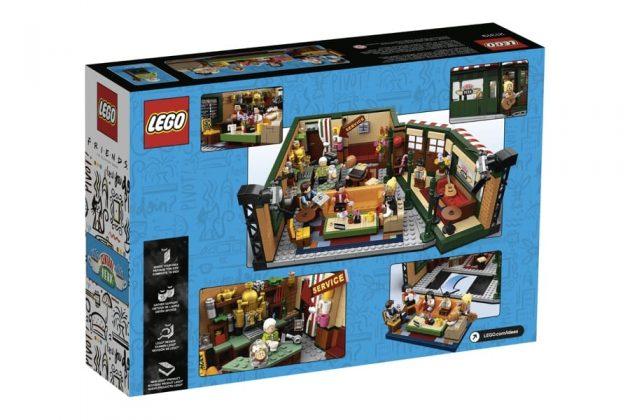 Il retro della scatola del nuovo set LEGO dedicato alla serie TV Friends