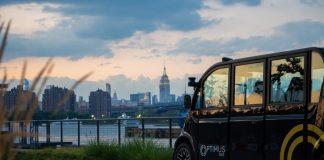Lo shuttle di Optimus Ride, che si guida da solo lungo le strade di New York